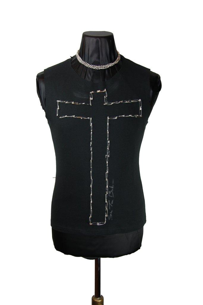 0d0f97d8c Safety Pin Cross  T-Shirt – Sir Tom Baker