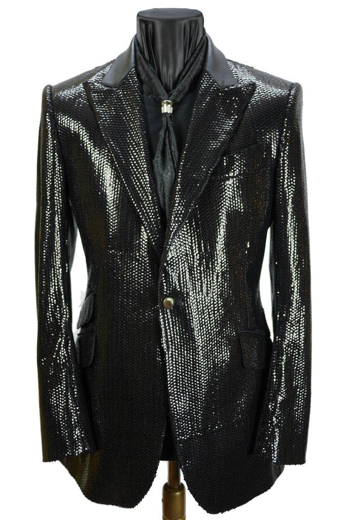 61dcd4fcc Fine Black Sequins Jacket – Sir Tom Baker