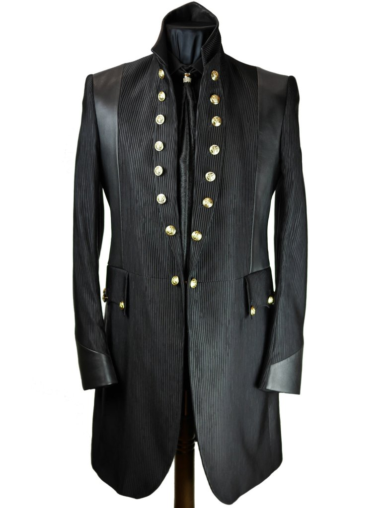 Military Stripe Frock Coat Sir Tom Baker