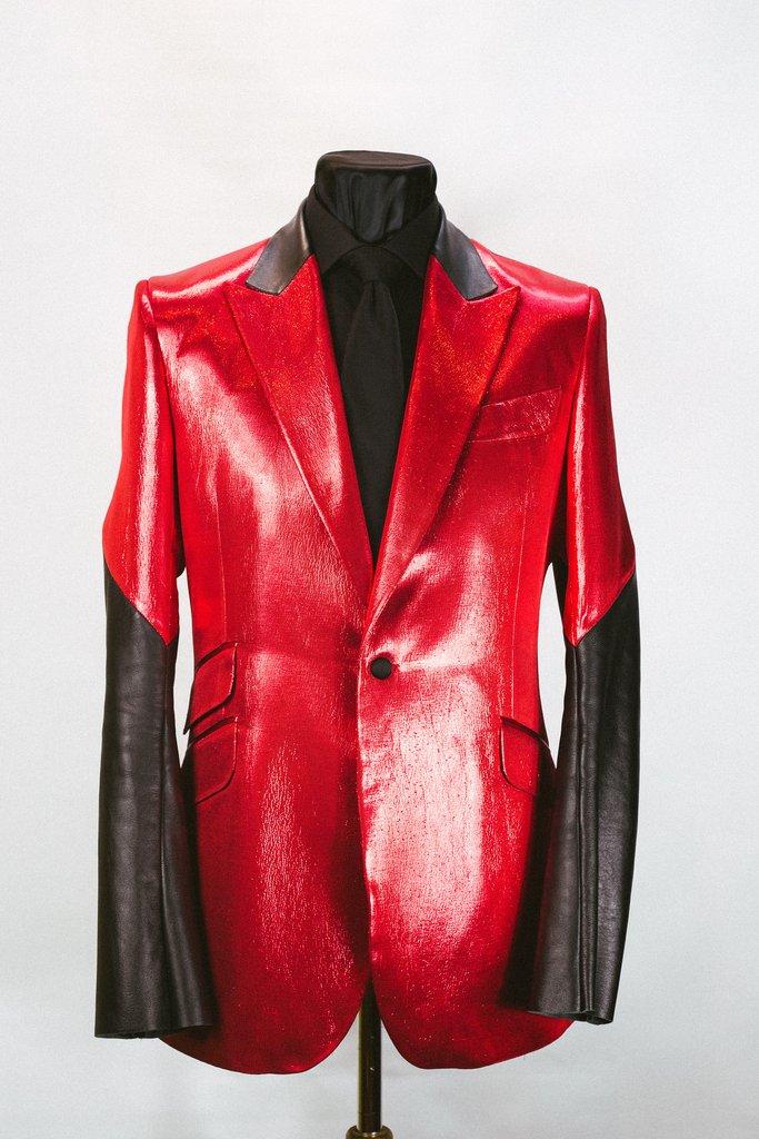 4ad2b22a8a914 Red Lamé  Huntsman  Jacket – Sir Tom Baker