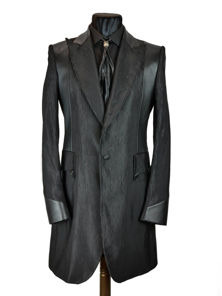 Black Stripe Frock Coat Sir Tom Baker